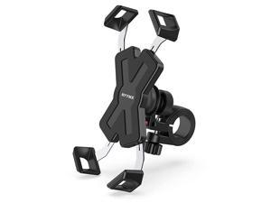 Bike Phone Mount -  Bicycle Phone Holder : 360° Rotation Adjustable Motorcycle Phone Mount for iPhone Xs Max XR X 8 7 6 Plus, Galaxy S10+ S9 S8, Note 10 9 8, GPS, 4-7 inches Android Cell Phones