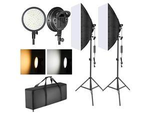 LED Softbox Lighting Kit 20x28 inches Softbox 48W Dimmable 2Color Temperature LED Light Head with Battery Compartment and Light Stand for IndoorOutdoor Photography Battery Not Included