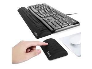 Keyboard Wrist Rest Mouse Pad Wrist Support Ergonomic Wrist Pads for Productive Typing and Wrist Pain ReliefUpgraded Softer Version Set