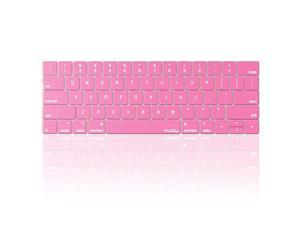 Compatible with MacBook Pro Keyboard Cover with Touch Bar for 13 and 15 inch 2019 2018 2017 2016 Apple Model A2159, A1989, A1990, A1706, A1707 Silicone Skin Protector, Rose Pink