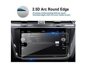 Replacement for 2018 2019 Volkswagen Tiguan 8 Inch Tempered Glass Car Navigation Screen Protector Infotainment Center Touch Display Screen Protector Anti Scratch High Clarity