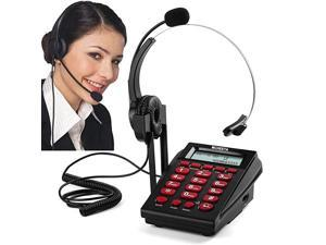 Corded Phone Headset  Call Center Telephone Headset with Dialpad Noise Cancelling Phone Headsets for OfficeHouse Phones