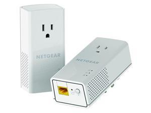 PowerLINE 1200 Mbps, 1 Gigabit Port with Pass-Through, Extra Outlet (PLP1200-100PAS),Pale Gray