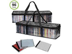 CD Storage BagNewImprovedSturdyCarrying HandlesSet2Total 96 CDs