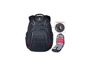 Circuit College Business Travel Backpack TSA Friendly Built in USB Charging RFID Protection Fits Laptops up to 156 Black J14BR