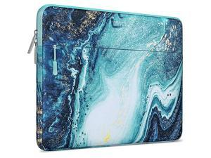 Laptop Sleeve Compatible with MacBook Air 13 inch 2018-2021 A2337 M1 A2179 A1932, MacBook Pro 13 inch A2338 M1 A2289 A2251 A2159 A1989 A1706 A1708, Polyester Horizontal Creative Wave Marble Bag