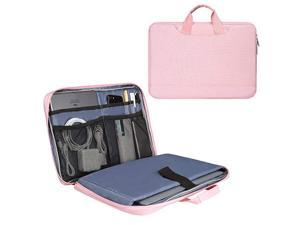 Inch Laptop Sleeve Briefcase for Women Ladies Bag with Accessories Organizer for Dell Inspiron 15 5584 HP EnvySpectre x360 Acer Aspire 15 Lenovo Yoga 730 ASUS MSI Macbook Case Pink