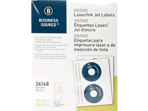 CDDVD Labels for Laser and Inkjet Printers Pack of 100 26148