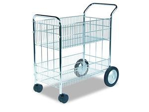 40912 Wire Mail Cart 2112w x 3712d x 3914h Chrome