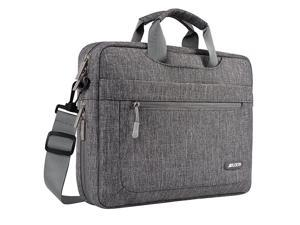 Laptop Shoulder Bag Compatible with MacBook Pro 16 inch A2141 15156 inch MacBook Pro Notebook Polyester Messenger Carrying Briefcase Sleeve with Adjustable Depth at Bottom Gray