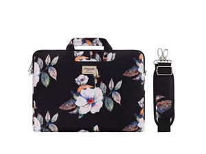 Laptop Shoulder Bag Compatible with 2019 MacBook Pro 16 inch 15 154 156 inch Dell Lenovo HP Asus Acer Samsung Sony Chromebook Hibiscus Carrying Briefcase Sleeve Case with Trolley Belt