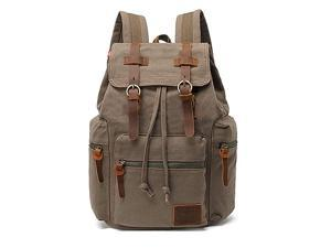 High Capacity Canvas Vintage Backpack for School Hiking Travel 12156quot Laptop