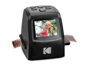 Mini Digital Film amp Slide Scanner Converts 35mm 126 110 Super 8 amp 8mm Film Negatives amp Slides to 22 Megapixel JPEG Images Includes 24 LCD Screen Easy Load Film Adapters