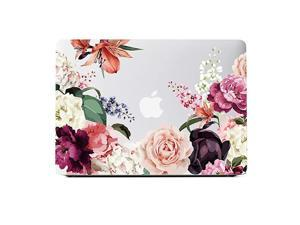 MacBook Air 13 inch Clear Case 2020 2019 2018 A2337 M1 A2179 A1932 Roses Flower Design For Newest Mac Air 13 CoverHard Shell Retina Case with Keyboard CoverScreen ProtectorPink Peony Floral