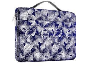 Laptop Sleeve 15 156 16 Inch Case Briefcase Compatible MacBook Pro 16 154 inch Surface Book 21 15quot Super Slim SpillResistant Handbag for Most Popular 15quot16quot Notebooks Silver jacquard blue