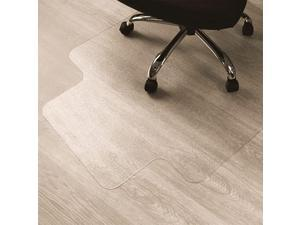 Enhanced Polymer EcoFriendly Office Chair Mat for Hardwood Floors 48quot x 51quot | Hard Floor Protector with Lip Transparent | Multiple Sizes