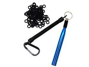 Wacky Rig Tool and 300 PCS Worm ORingsWacky Ring Tool Wacky Worm Kit for Senko Stick Soft Baits