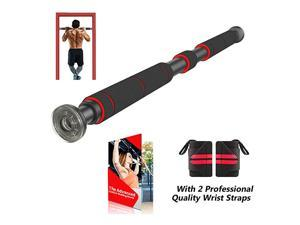 Pull Up Bar for Doorway | ChinUp Bar with Extended Hand Grips 2 Professional Quality Wrist Straps Trainer for Home Gym Exercise26 to 39 Inches Adjustable Length