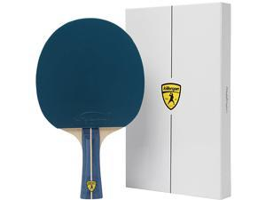 Jet 200 Table Tennis Paddle Recreational Ping Pong Paddle Table Tennis Racket with Wood Blade Jet Basic Rubber Grips Ping Pong Balls Memory Box for Storage BluVanilla