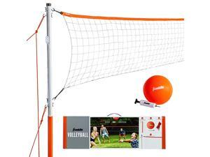 Sports Volleyball Set Backyard Volleyball Net Set with Volleyball Portable Net amp Ground Stakes Beach or Backyard Volleyball Starter