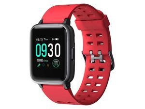 Smart Watch for Android Phones Compatible iPhone Samsung IP68 Swimming Waterproof Smartwatch Sports Watch Fitness Tracker Heart Rate Monitor Digital Watch Smart Watches for Men Women Red