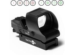 V2 Reflex Sight | Combat Veteran Owned Company | 45 Degree Offset Mount Included | Reflex Rifle Optic with 4 Reticle Patterns | Adjustable Color Settings | Red Dot Green Dot Gun Scope