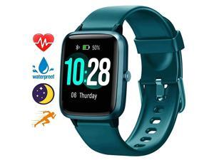 Smart Watch for Android Phones and iOS Phones AllDay Activity Tracker with Heart Rate Sleep Monitor 13 Full Touch Screen 5ATM Waterproof Pedometer Smartwatch for Men Women