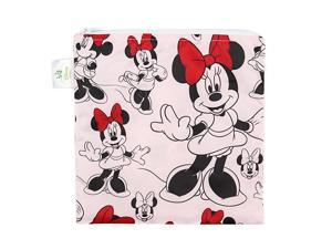 Disney Minnie Mouse Sandwich Bag Snack Bag Reusable Washable Food Safe BPA Free 7x7 Pack of 1
