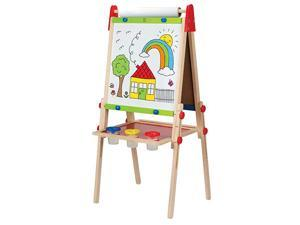 Award Winning  AllinOne Wooden Kids Art Easel with Paper Roll and Accessories