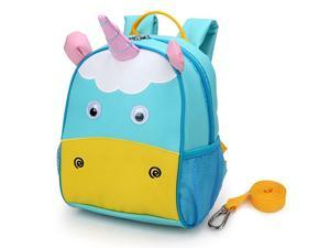 Kids Insulated Toddler Backpack with Leash Safety Harness Lunch Bag
