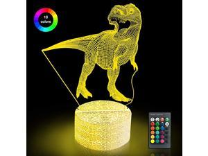 Dinosaur Toys Dinosaur Gifts for Child | 3D Night Light with Remote amp Smart Touch 16 Colors Changing T Rex Toys Birthday Halloween Christmas for Age 3 4 5 6 7 8 9+ Year Old Boy Gifts