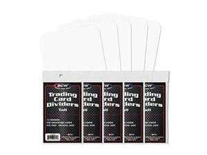 NEW  TALL TRADING CARD DIVIDERS PACK OF 50