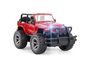 Car Toy OffRoad Military Fighter Friction Powered Toy Vehicle with Fun Lights Sounds