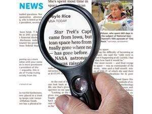 Lighted Magnifying Glass 3X 45x Magnifier Lens Handheld Magnifying Glass with Light for Reading Small Prints map Coins and Jewelry LED Magnifying Glass