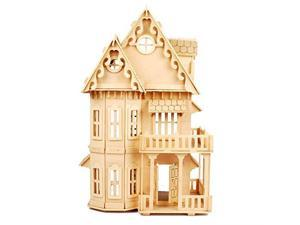 Childrens 17 Wooden 6 Rooms DIY Kits Assemble Miniature Doll House Gothic