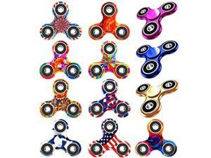 12 Pack Fidget Spinner EDC Hand TriSpinner Fidget Stress Relief Toys for Adults and Kids Allinone Design 23 Min SpinsRelieves Your ADD ADHD Autism