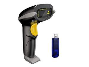 Wireless Barcode Scanner 328 Feet Transmission Distance USB Cordless 1D Laser Automatic Barcode Reader Handhold Bar Code Scanner with USB Receiver for Store Supermarket Warehouse