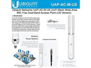 Networks UAPACMUS UniFi AC Mesh WideArea InOut DualBand Access Point US Version