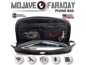 Mojave Faraday Phone BagMultiFunctional Travel case with Accessory Pockets and Builtin Faraday SleeveSignalBlocking AntiTracking AntiHacking AntiSpying Faraday cage