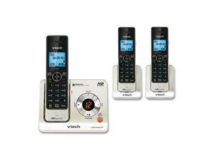 LS64253 DECT 60 Expandable Cordless Phone with Answering System and Caller IDCall Waiting Silver with 3 Handsets
