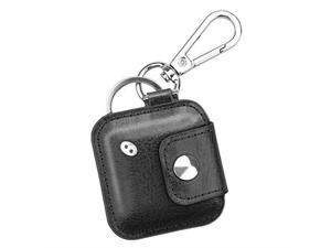 Case with Carabiner Keychain for Tile Mate Tile Pro Tile Sport Tile Style Key Finder Phone Finder AntiScratch Vegan Leather Protective Skin Cover with Speaker Cutout Black
