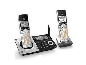 CL83207 DECT 60 Expandable Cordless Phone with Smart Call Blocker SilverBlack with 2 Handsets