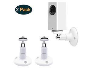 Wyze Cam Pan Wall Mount Adjustable Indoor and Outdoor Security Mount for Wyze Cam Pan and Other Camera with Same InterfaceStandard Size 2 Pack White