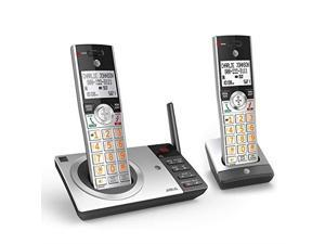 DECT 60 Expandable Cordless Phone with Answering System SilverBlack with 2 Handset