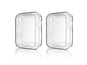 Apple Watch Case iWatch Screen Protector TPU AllAround Protective Case Clear UltraThin Cover Apple Watch Series 3 2 Pack Apple Watch 42mm case