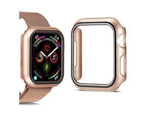 Compatible for Apple Watch Series 4 Series 5 Apple Watch Case for Apple Watch 40mm iWatch Case PC Protector Cover Replacement Champagne Gold