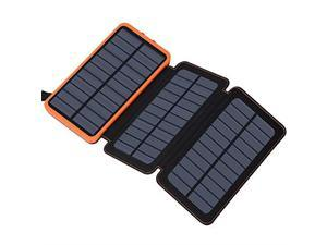 Solar Charger 24000mAh  Solar Power Bank with 2 USB Ports Waterproof Portable External Battery Compatible with Smartphones Tablets and More