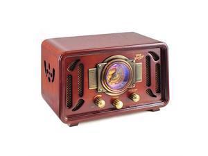 Retro Wireless Bluetooth Radio Speaker Classic Vintage Style Audio Sound Receiver System wBuiltin Stereo Speakers USB SD Card Slot AUX RCA MP3 AMFM Tuner  PUNP34BT