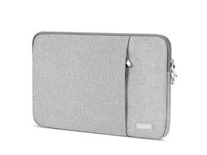 Laptop Sleeve 156 InchWater Repellent Protective Fabric Notebook Bag Case Compatible F555LA MB168B X551 Aspire 156Chromebook 15 Inspiron 156Pavilion 156Computer Carrying CaseGrey