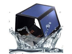 22W 5V 2Port USB Portable Foldable Solar Charger with High Efficiency Solar Panel Reinforced and Waterproof for Cell Phone iPhone Backpack and Outdoors Black